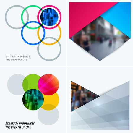 Abstract design of vector elements for graphic template. Modern background with circles. Colourful smooth round shapes rings for business branding, partnership collaboration , offer. Stock Photo