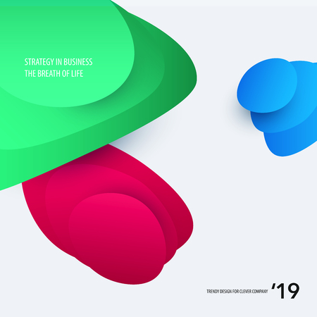 Abstract design of colourful flow vector elements for modern background with fluid gradient shapes for business branding finance. Illustration