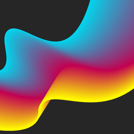 Abstract design of colourful flow vector elements for modern background with fluid gradient shapes for business branding finance Illustration