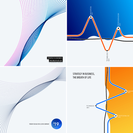 Abstract design of vector elements for graphic template. Modern background. Colourful smooth waves for business branding, website sale, marketing, discount, offer.