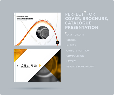 Smooth design presentation. Abstract vector set of modern horizontal templates with colourful waves for business, teamwork, tech, ecology. Clean web headers.