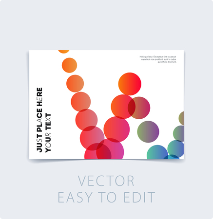 Abstract design brochure in modern style, creative catalog, flyer in A4 with colourful geometric shapes for branding, presentation, marketing kit. Business vector cover