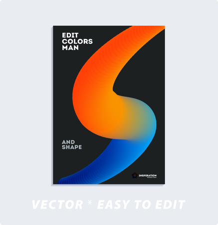 Brochure with dark neon style, creative design of catalog cover, flyer in A4 with colourful geometric shapes for night club, promotion, advertisement, event, fun. Black background.