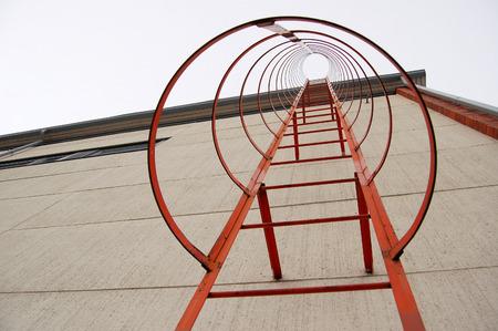escape: Fire Escape Steel Ladder Stock Photo