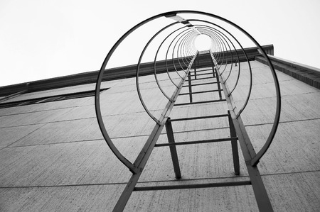 fire escape: Fire Escape Steel Ladder Stock Photo