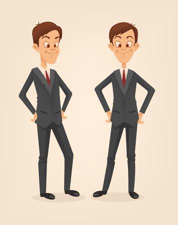 politicians: Office worker man character set. Vector flat cartoon illustration
