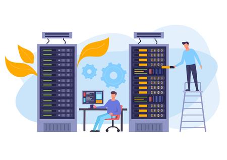 Storage database concept. Vector flat graphic design isolated illustration Illustration