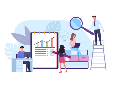 Teamwork concept. Vector flat graphic design isolated illustration