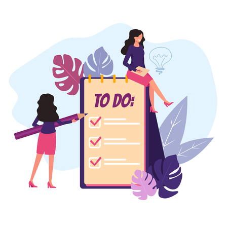To do list concept. Vector flat graphic design isolated illustration