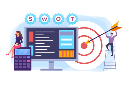 SWOT concept. Vector flat graphic design isolated illustration