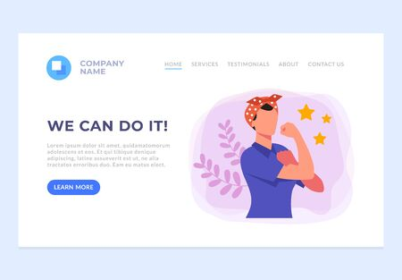 We can do it banner web page site concept. Vector flat graphic design cartoon illustration