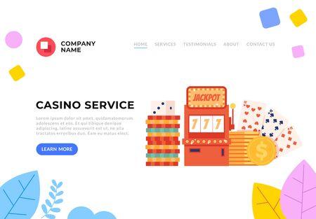 Casino flat graphic design banner poster vector concept illustration
