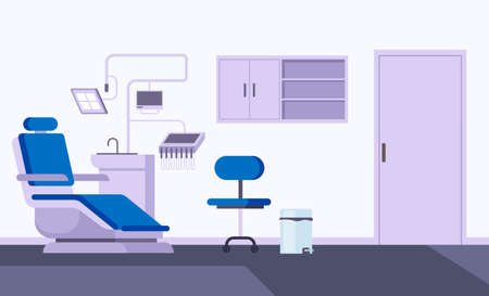 Dentist office interior concept. Vector flat graphic design illustration