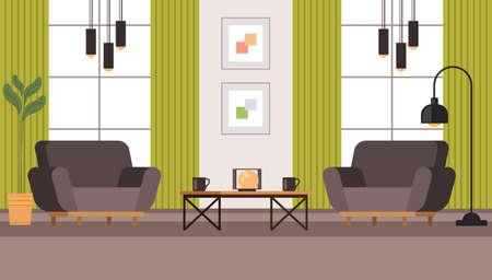 Living room interior furniture concept. Vector flat graphic design illustration Banque d'images - 156507530