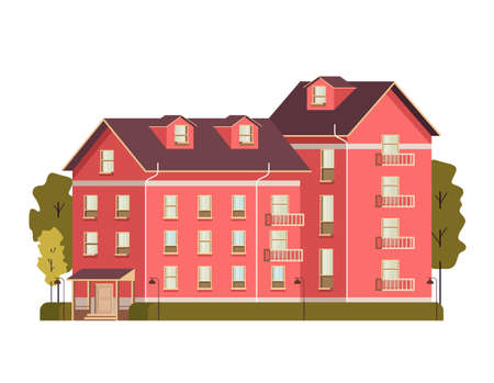 Single isolated on white background house concept vector flat graphic design flat illustration Banque d'images - 157487818