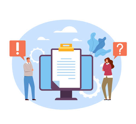 Guides FAQ support advice question and answer asking. Vector concept flat graphic simple illustration