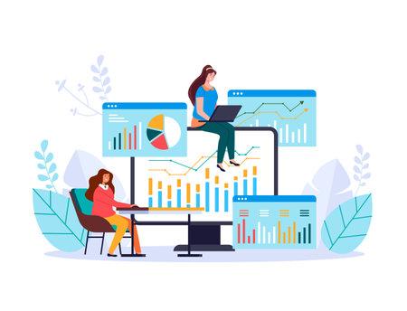 Finance business analytics investment satistics management information vector web adstract graphic design illustration