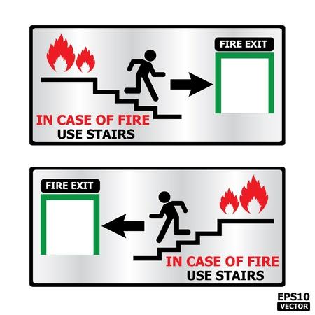 Rectangle fire exit door or emergency door sign -eps10 vector