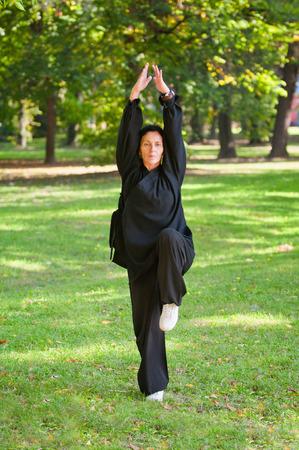 combative sport: Martial arts training in nature