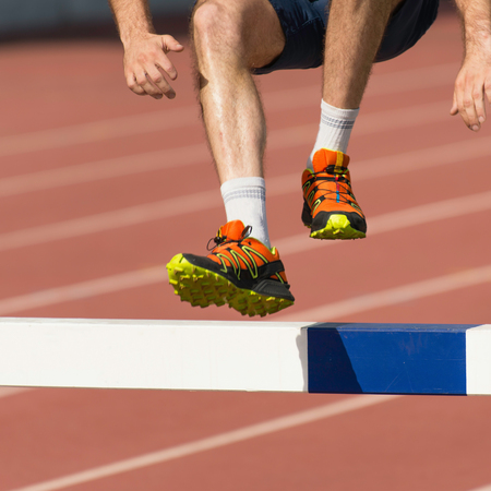 steeplechase: Steeplechase competitor on crossfit competition