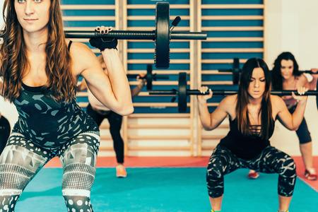 Body pump - fitness training with weights 版權商用圖片