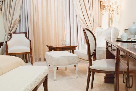 luxury hotel room: Elegant hotel room with luxury furniture