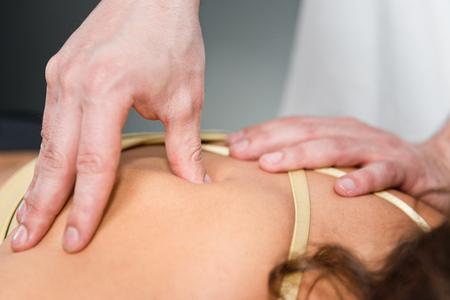 gatillo: punto de activación de terapia física Foto de archivo