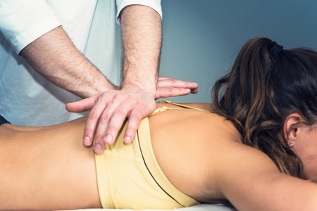 Osteopathy treatment Stock Photo