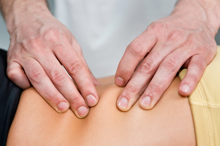 Osteopathie behandelingsdetail Stockfoto
