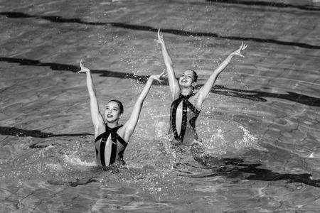 nataci�n sincronizada: Synchronized Swimming contest