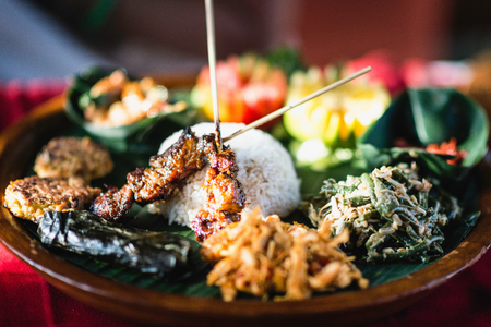 nasi: Delicious Nasi Goreng, traditional Indonesian dish