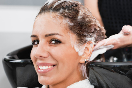 salon: Hair salon - washing hair