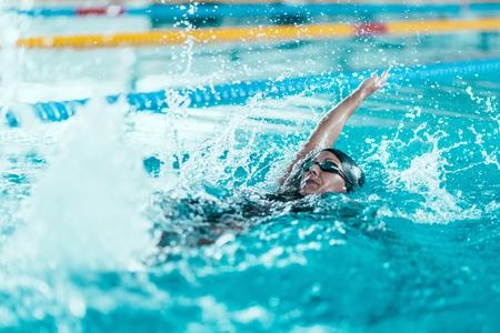 backstroke: Backstroke swimming Stock Photo