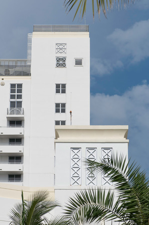 south beach: Art deco architectural detail from South Beach, Miami Stock Photo