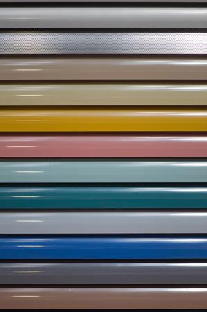 blinds: Aluminum window blinds sampler