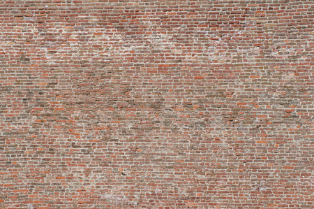 Large old brick wall on the fortress, convenient as background