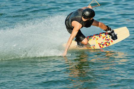 fun activity: Wakeboarder speeding
