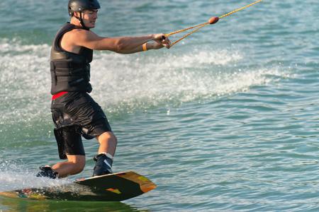 Wakeboarder Kurven