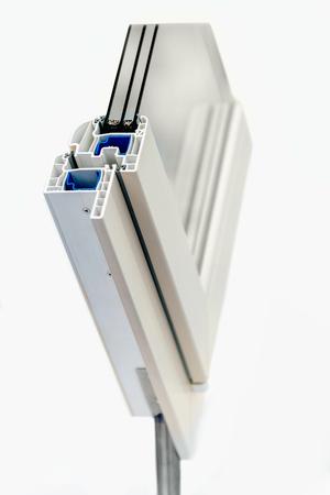 cross section: PVC Window Cross Section