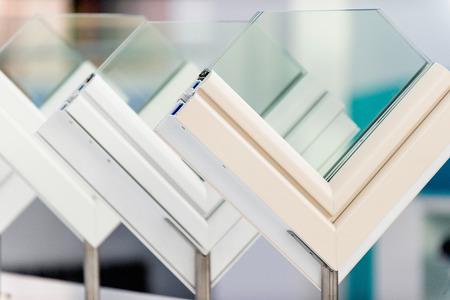 aluminum: Window profiles Stock Photo