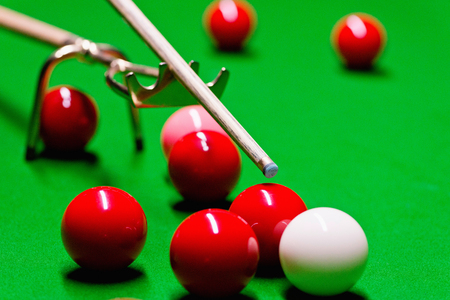 snooker: Detail from snooker game Stock Photo