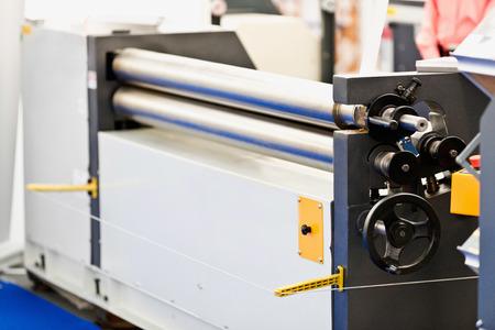 bending: Industrial metal plate bending machine Stock Photo