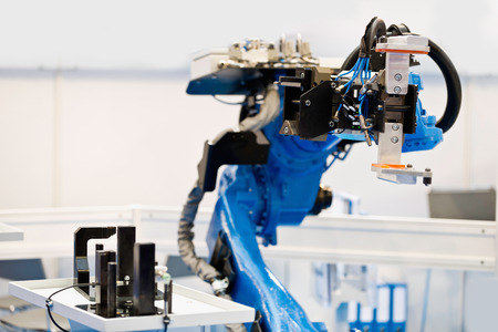 industrial objects equipment: Robotic Arm Stock Photo