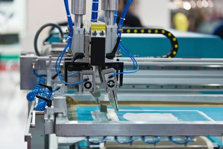 Silk screen printer working