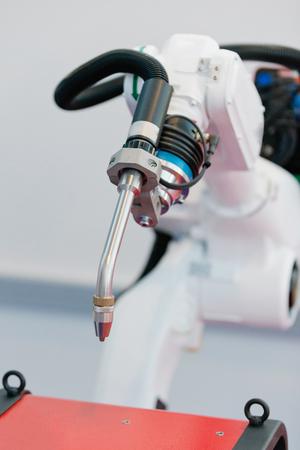welding machine: Robotic welding machine Stock Photo