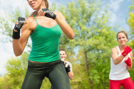 three persons only: Tae Bo Training