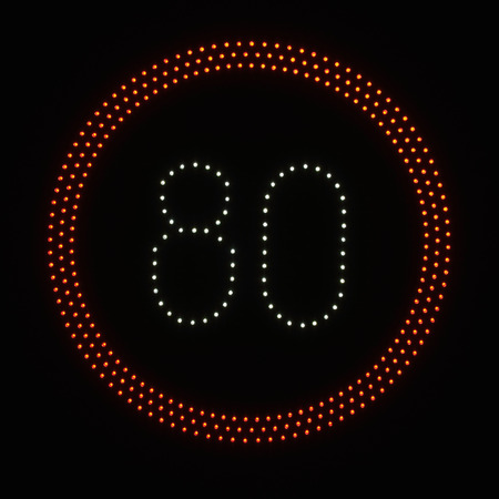 speed limit: LED light speed limit sign - 40