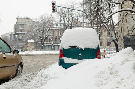 belgrade: Winter storm in Belgrade