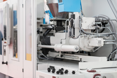 moulding: Injection moulding machine in a high tech industrial facility