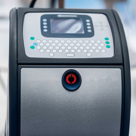 inkjet printer: Continuous Inkjet Printer Stock Photo